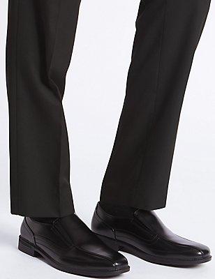 Big & Tall Tramline Slip-on Shoes, BLACK, catlanding