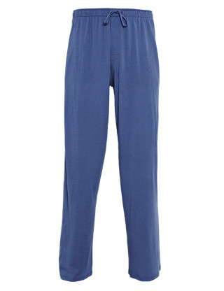 Drawstring Long Pants with Modal Clothing
