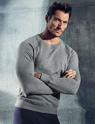 Slim Fit Supima® Cotton Sweatshirt, GREY MARL, catlanding
