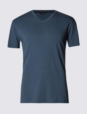 Приталенная пижамная футболка с добавлением модала