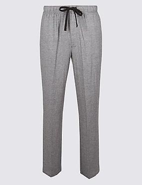 Supima® Modal Blend Striped Pyjama Bottoms, BLACK MIX, catlanding