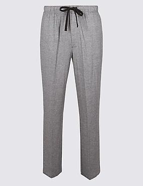 Pantalon de pyjama en modal mélangé à rayures, NOIR ASSORTI, catlanding