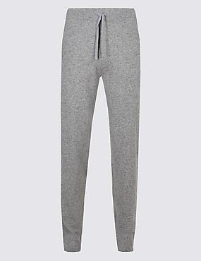 Pure Cashmere Slim Fit Joggers, GREY, catlanding
