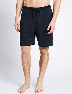 2 Pack Pure Cotton Drawstring Waist Shorts, BLUE MIX, catlanding