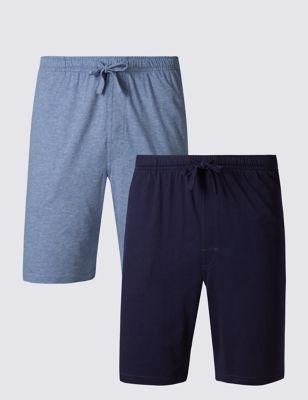 Мягкие пижамные однотонные шорты (2 пары) M&S Collection T072053