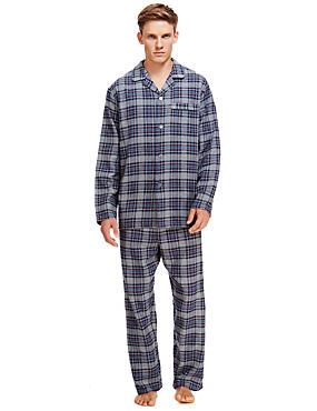 Brushed Cotton Thermal Checked Pyjamas