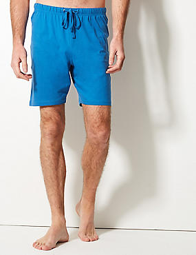 2 Pack Pure Cotton Pyjama Shorts, BRIGHT BLUE, catlanding