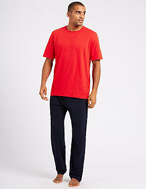 Pure Cotton Pyjama Set, BRIGHT RED, catlanding
