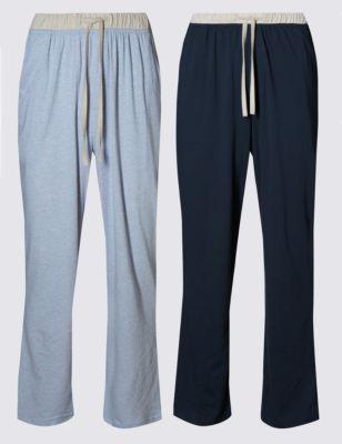 Свободные пижамные брюки с контрастным поясом (2 пары)