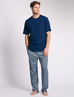 Pure Cotton Crew Neck T-Shirt & Trousers Set