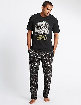 Star Wars™ Pure Cotton Pyjamas, BLACK MIX, catlanding