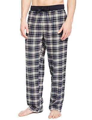 2in Longer Pure Cotton Checked Pyjama Bottoms, NAVY MIX, catlanding