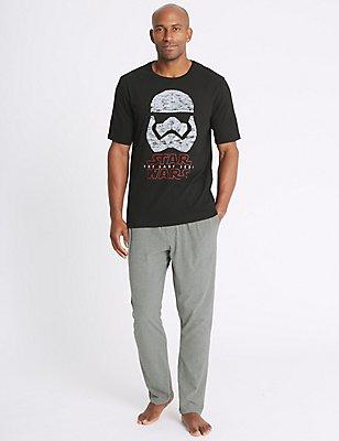 Star Wars™ Pure Cotton Printed Pyjama Set, BLACK MIX, catlanding