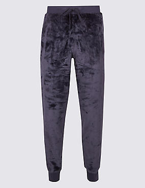 Fleece Cuffed Hem Jogger, NAVY, catlanding