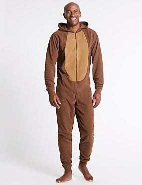 Reindeer Novelty Onesie, BROWN, catlanding