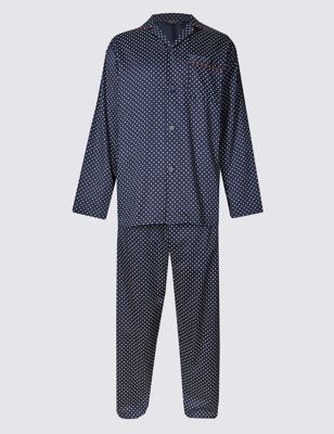 Пижамный костюм из чистого хлопка с мелким принтом