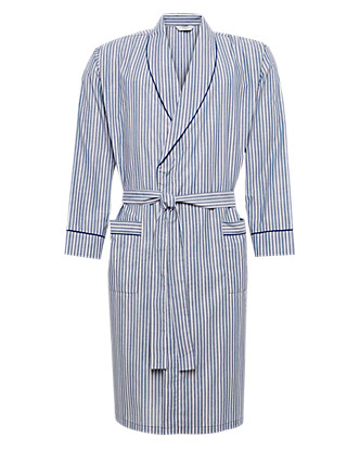Striped Winceyette Dressing Gown Clothing