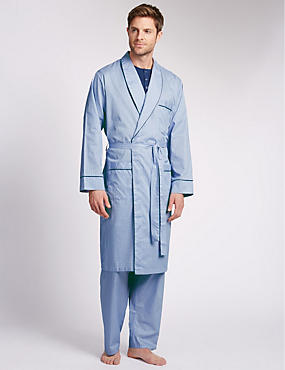 Pure Egyptian Cotton Belted Dressing Gown