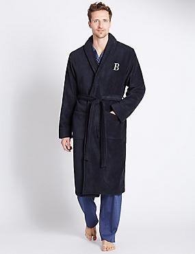Super Soft Cotton Personalised B Alphabet Gown, NAVY, catlanding