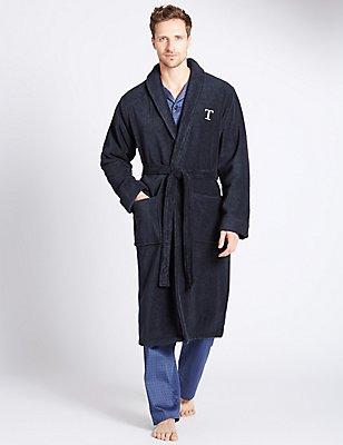 Super Soft Cotton Personalised Alphabet T Gown, NAVY, catlanding