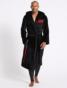 Star Wars™ Fleece Dressing Gown with Belt, BLACK MIX, catlanding