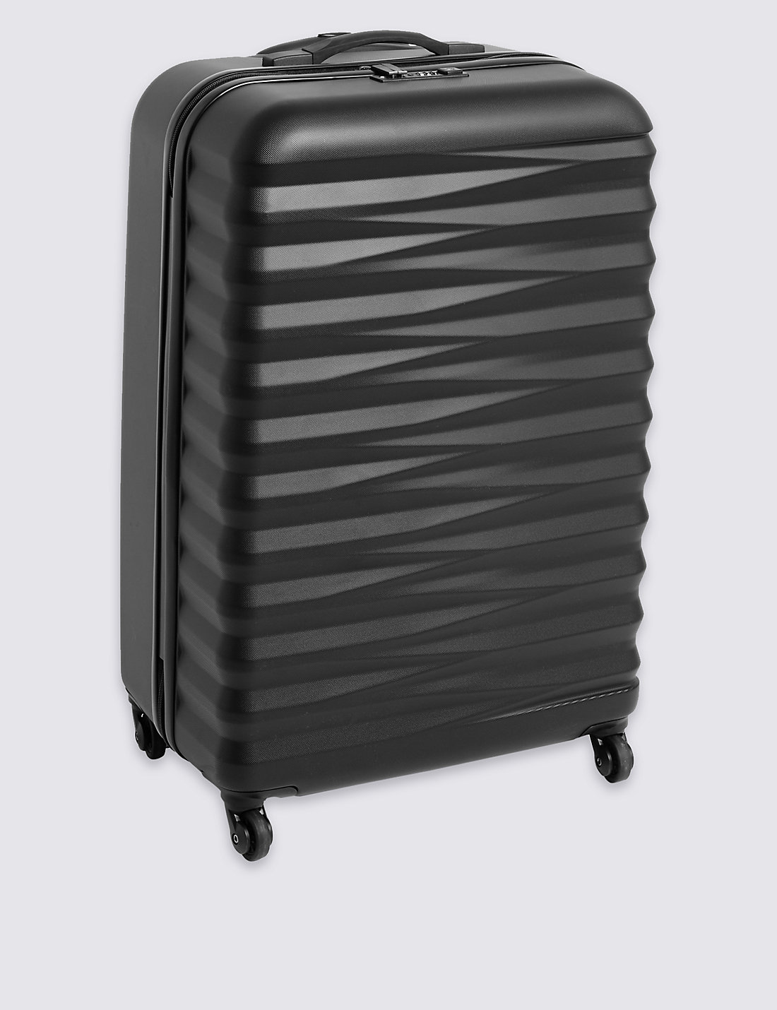 Large 4 Wheel Essential Hard Suitcase with Security Zip | M&S
