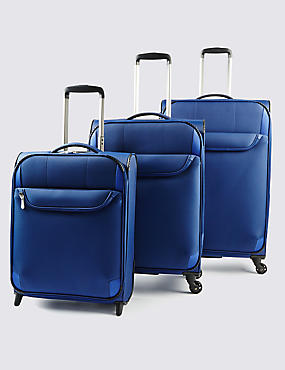 Odessa Super Lightweight Medium Suitcase, BLUE, catlanding