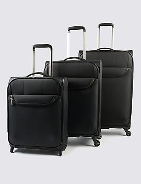 Odessa Super Lightweight Medium Suitcase, BLACK, catlanding