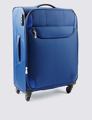 Odessa Super Lightweight Large Suitcase, BLUE, catlanding