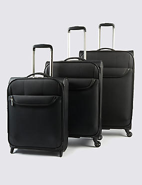 Odessa Super Lightweight Large Suitcase, BLACK, catlanding