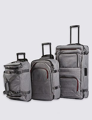 Moreno Double-Decker Large Suitcase, GREY MARL, catlanding