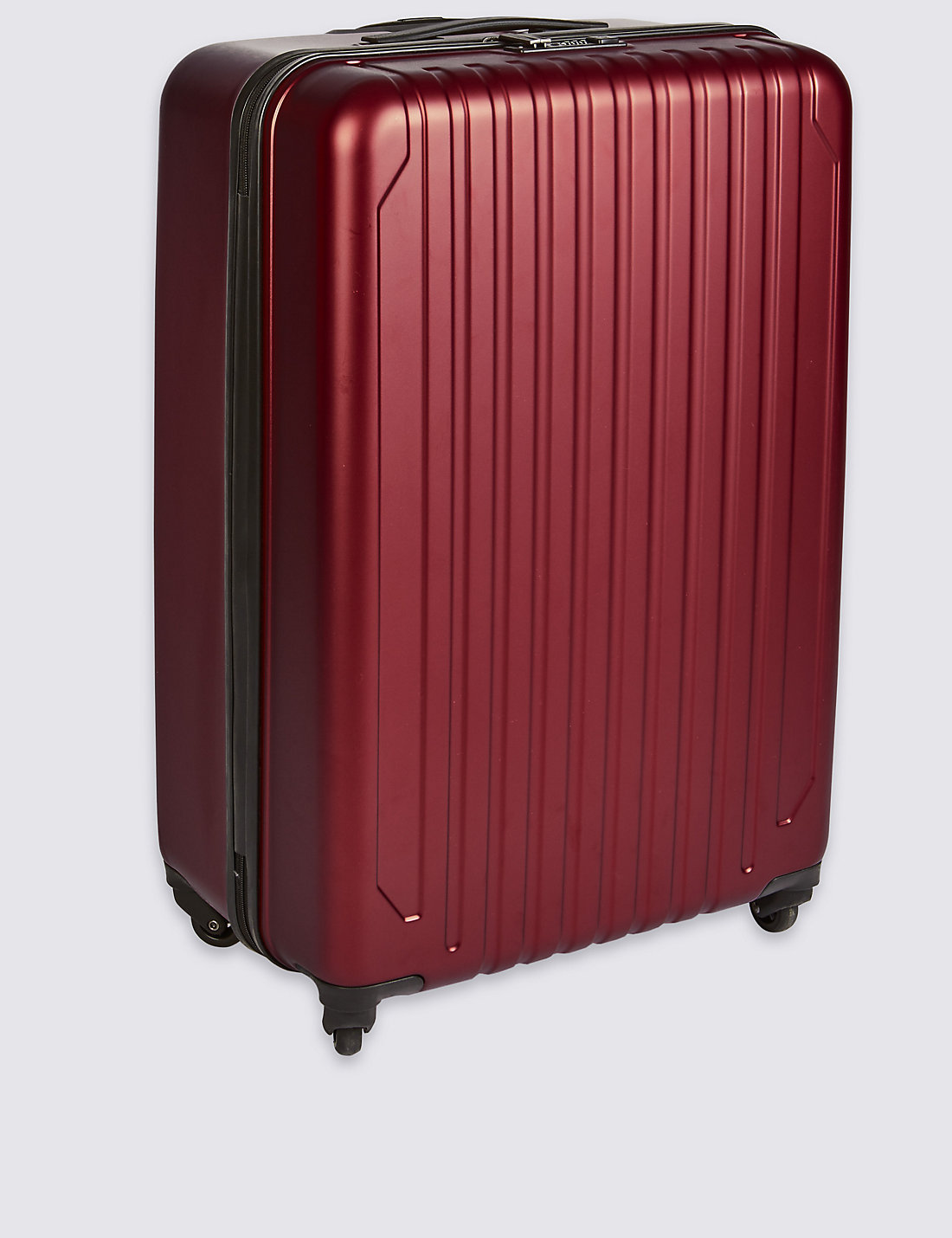Large 4 Wheel Hard Suitcase with Security Zip   M&S