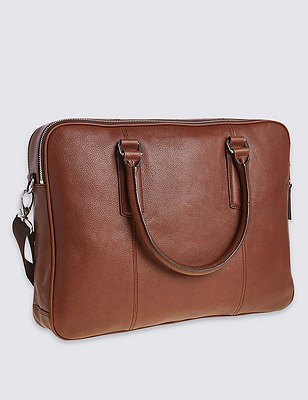 Leather Laptop Bag, TAN, catlanding