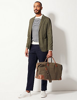 Flocked Holdall Bag, OLIVE, catlanding