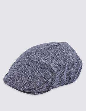 Space-Dye Marl Flat Cap, NAVY MARL, catlanding