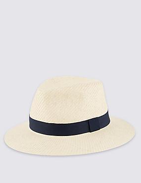 Double Texture Ambassador Hat, NATURAL, catlanding