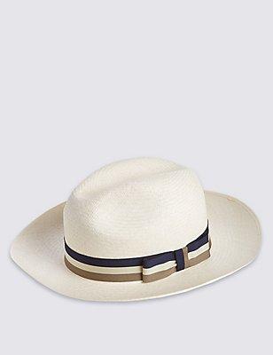 Panama Hat, NATURAL, catlanding