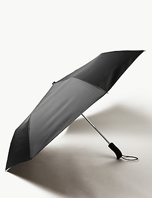 Travel Umbrella with Stormwear™ & Windtech™, BLACK, catlanding