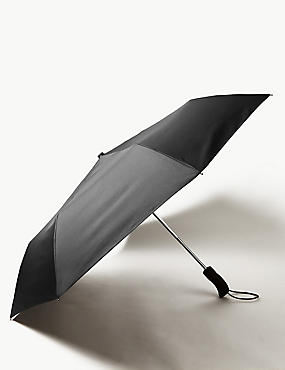 Plain Umbrella with FLEXITECH™, BLACK, catlanding