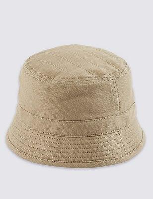 Cotton Rich Hat , KHAKI, catlanding