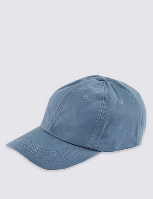 Pure Cotton Baseball Cap, BLUE, catlanding