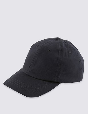 Pure Cotton Baseball Cap, NAVY, catlanding