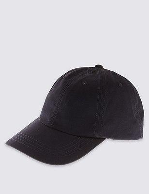 Pure Cotton Baseball Cap, DARK NAVY, catlanding