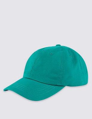 Pure Cotton Baseball Cap, EMERALD, catlanding