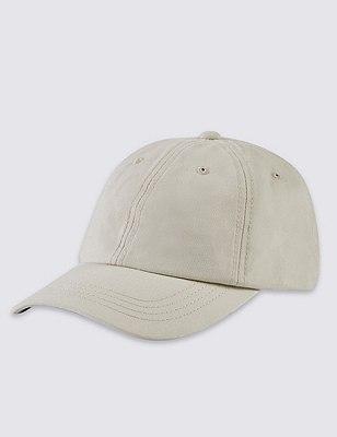 Pure Cotton Baseball Cap, STONE, catlanding