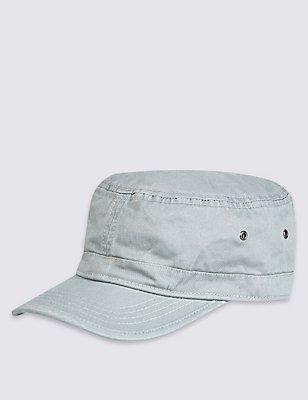 Washed Panelled Cap, LIGHT GREY, catlanding
