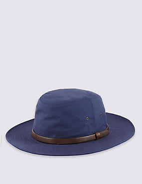 Cool & Fresh™ Pure Cotton Typhoon Hat with Stormwear™, INDIGO, catlanding