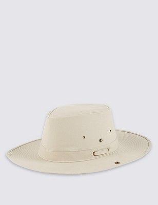 Pure Cotton Cool & Fresh™ Jungle Hat, LIGHT PUTTY, catlanding