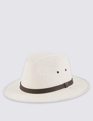 Pure Linen Cool & Fresh™ Ambassador Hat, OATMEAL, catlanding