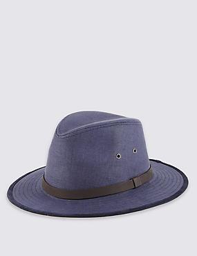 Pure Linen Cool & Fresh™ Ambassador Hat, MARINE, catlanding